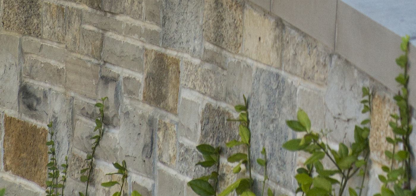 Lannonstone wall on the Carthage campus