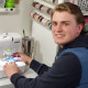 Tommy Green '22 learned to sew while helping his mother make protective masks for hospital ...