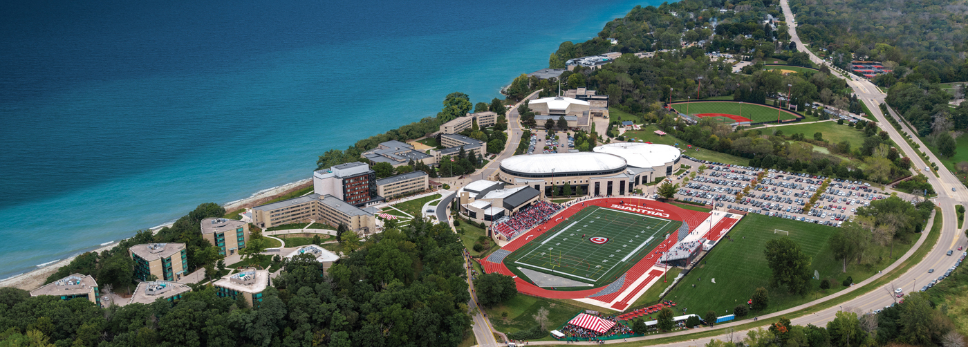Aerial view of campus #carthageviews